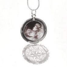 Baby Ultrasound Scan Photo Locket - Unique Baby Shower Gift
